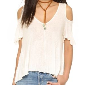Free People Bittersweet Cold Shoulder Top